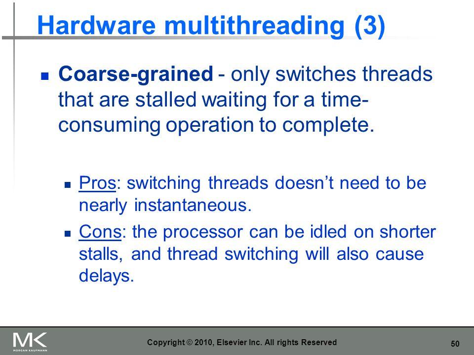 Hardware multithreading (3)