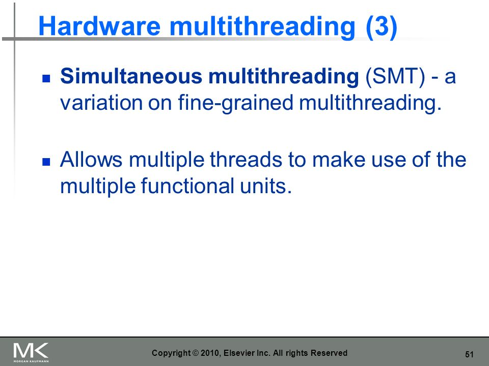 Hardware multithreading (3)