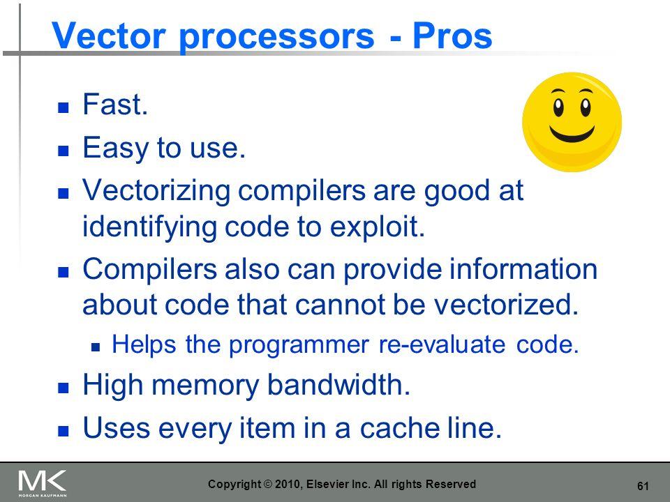 Vector processors - Pros
