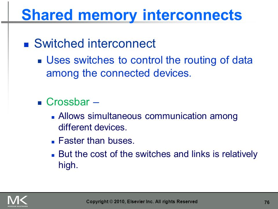 Shared memory interconnects