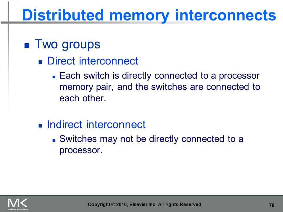 Distributed memory interconnects