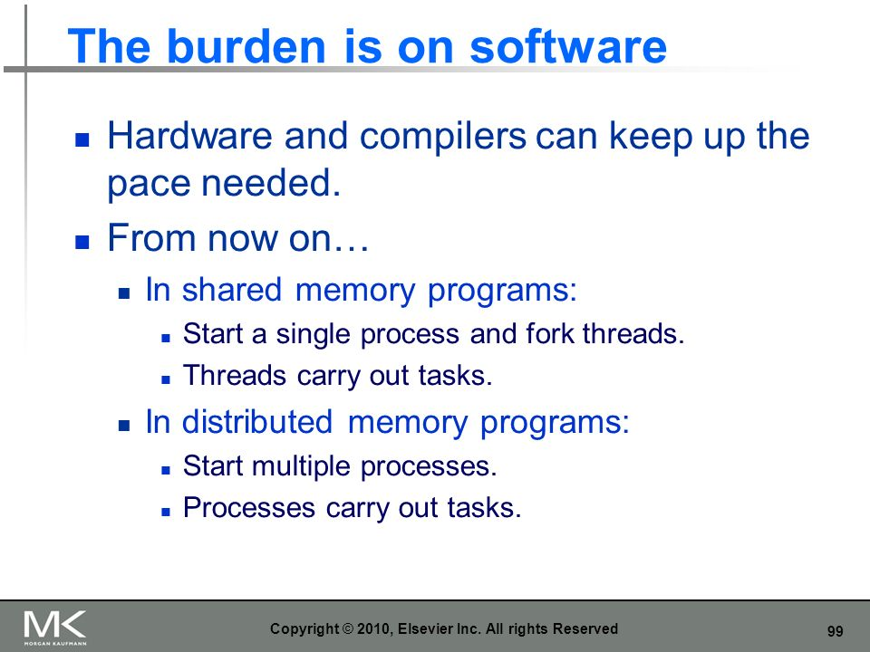 The burden is on software