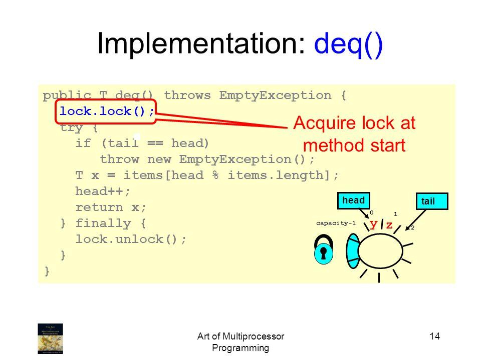 Implementation: deq()
