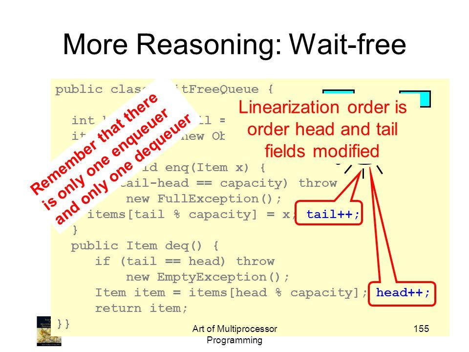 More Reasoning: Wait-free