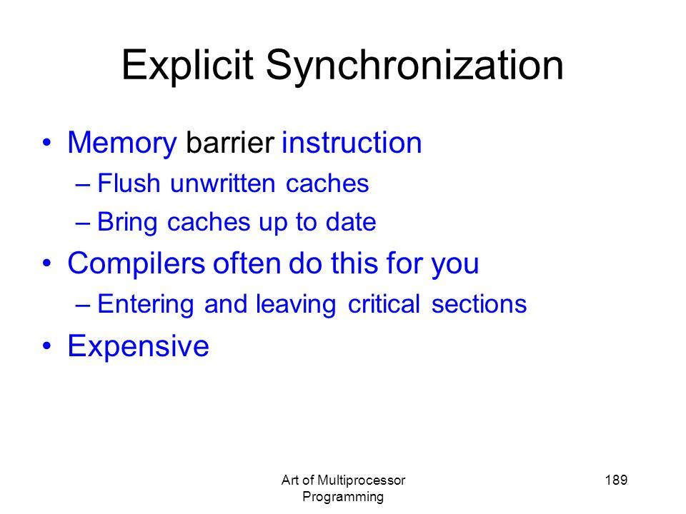 Explicit Synchronization