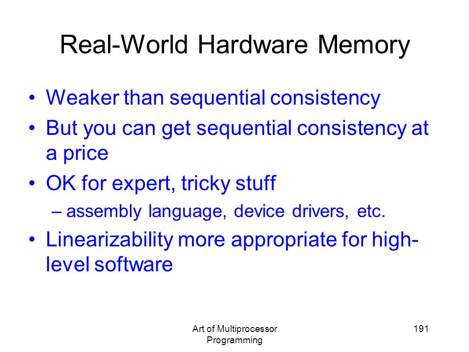 Real-World Hardware Memory