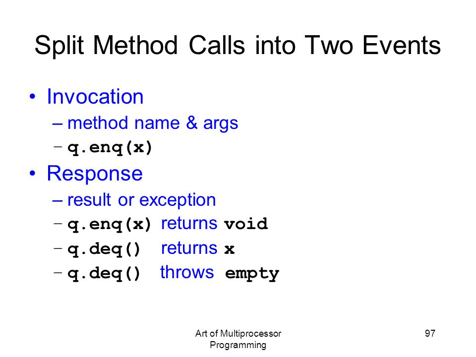 Split Method Calls into Two Events