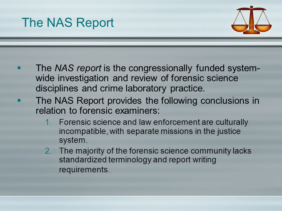 The NAS Report