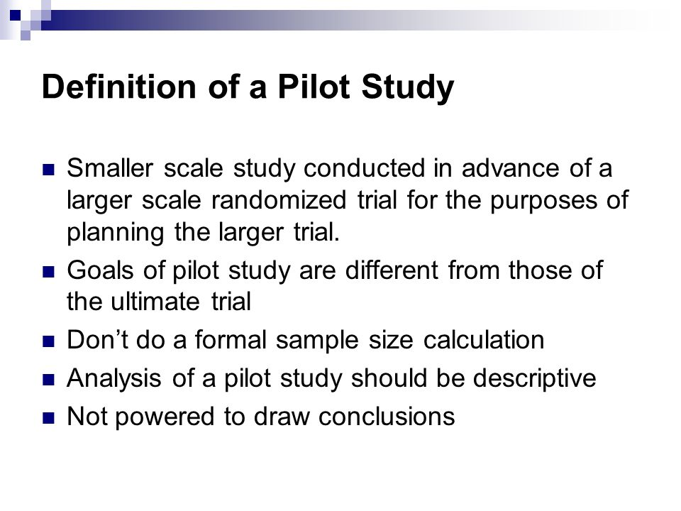 Outcome research study definition