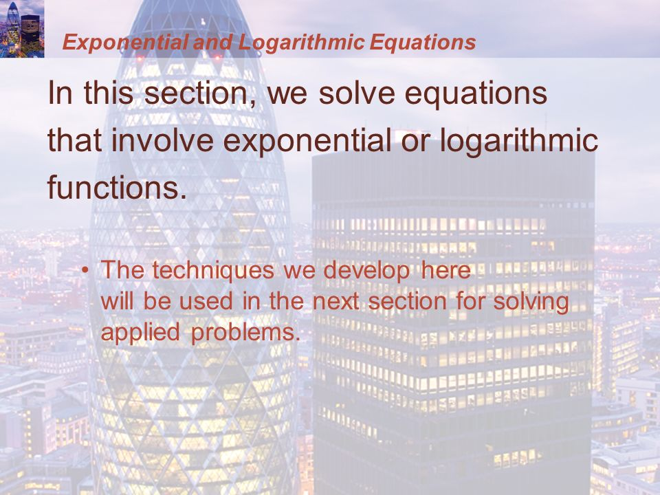 exponents and logarithms relationship problems