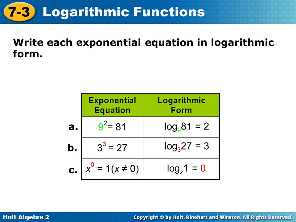 Logarithmic Form Calculator