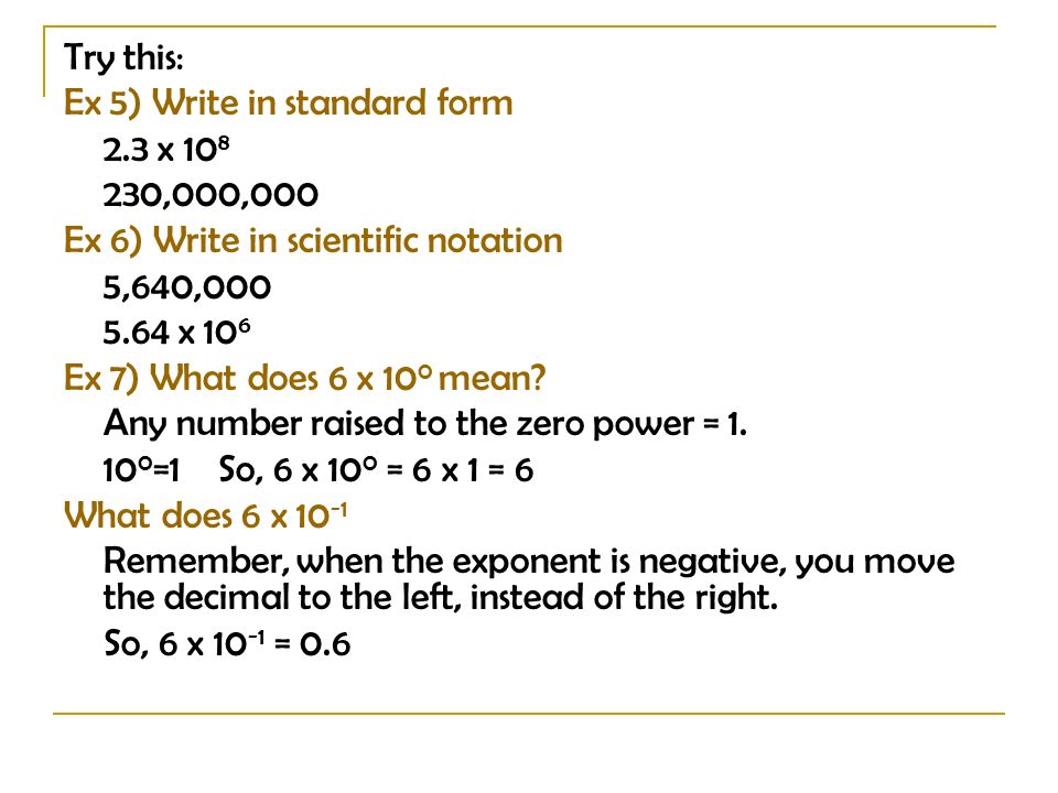 5 4 Scientific Notation P Ppt Download