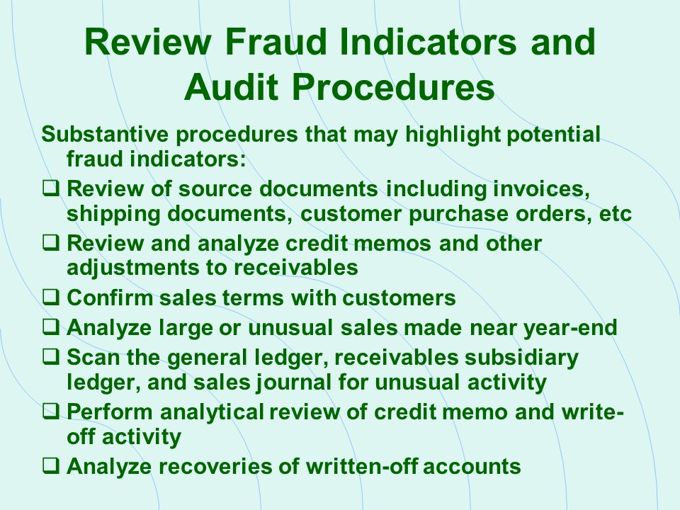 Auditing Revenue And Related Accounts - Ppt Download