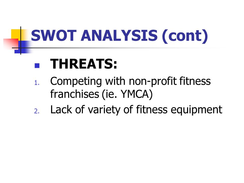 ymca swot Ymca of liberia terms of reference reports and project swot analysis english is the working language of the ymca.