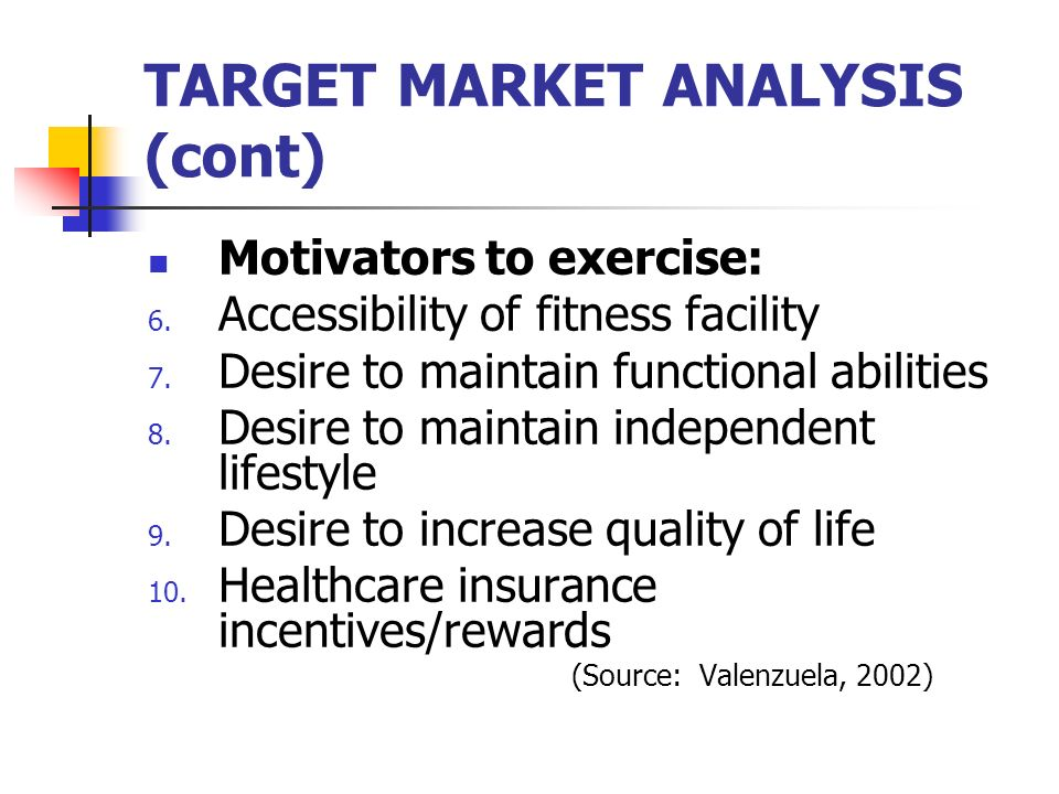 gym target market Gym target market target market is the market segment that i am hoping to have joined the gym based on the improved advertising by focusing on 3 main target areas .