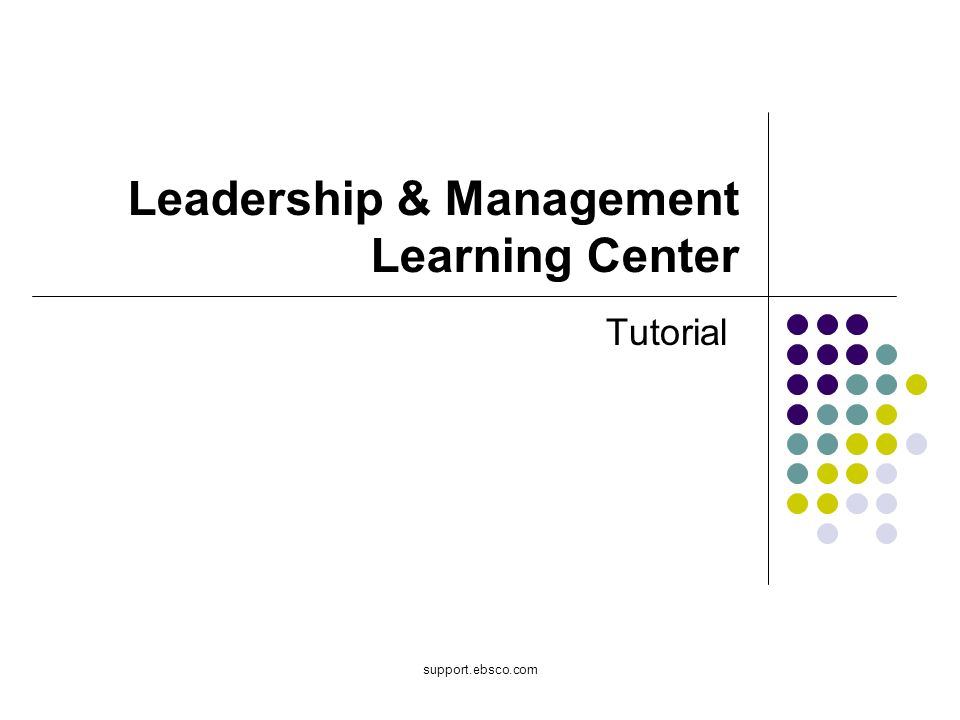 Leadership & Management Learning Center