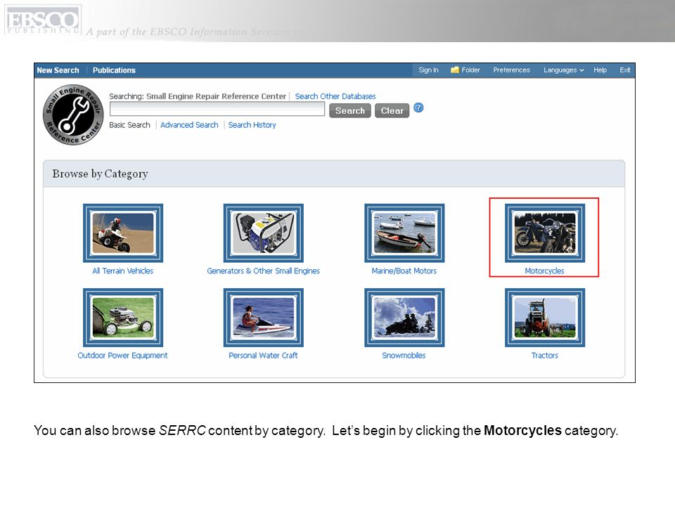 You can also browse SERRC content by category