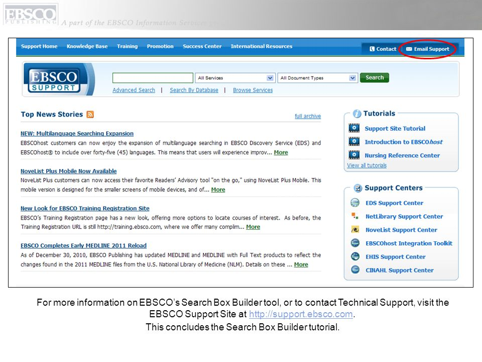 how to find articles on ebscohost