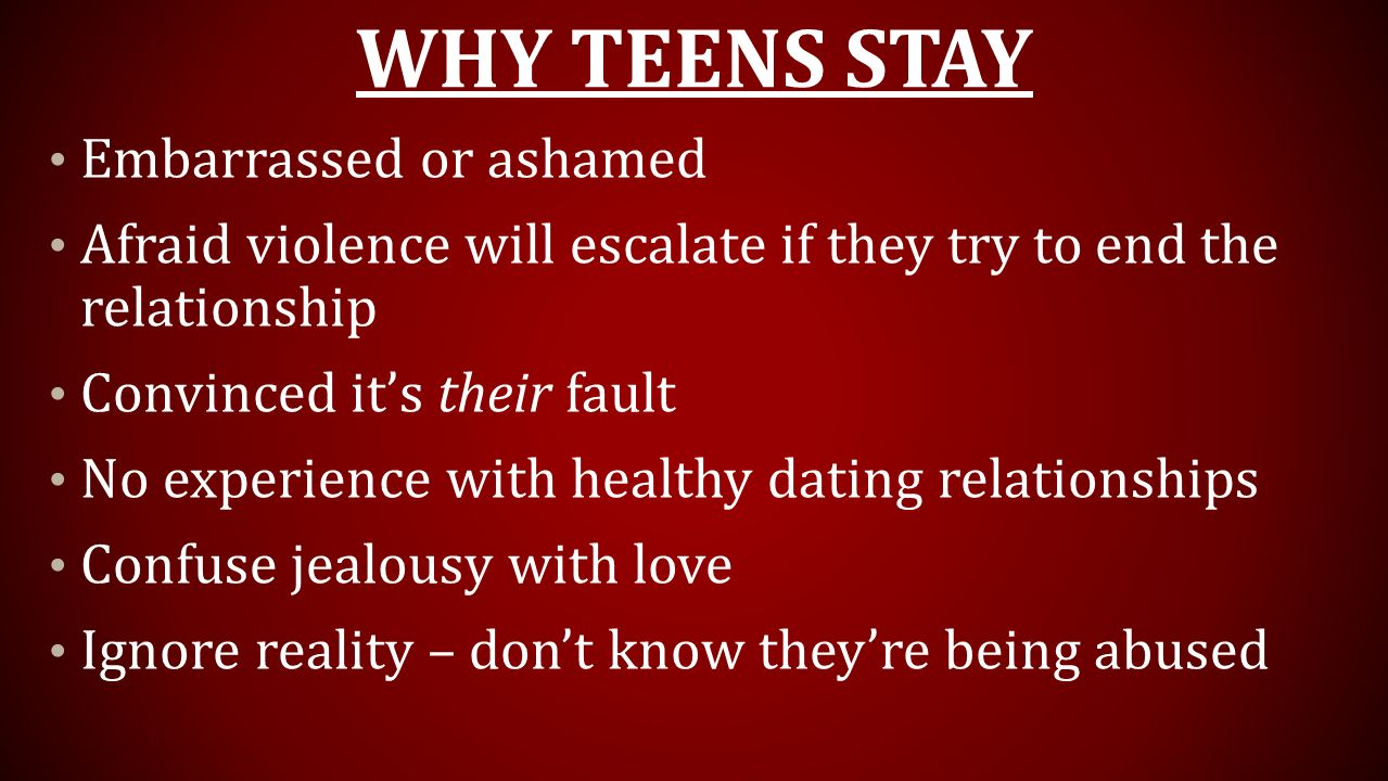 Why Teens Stay Embarrassed or ashamed