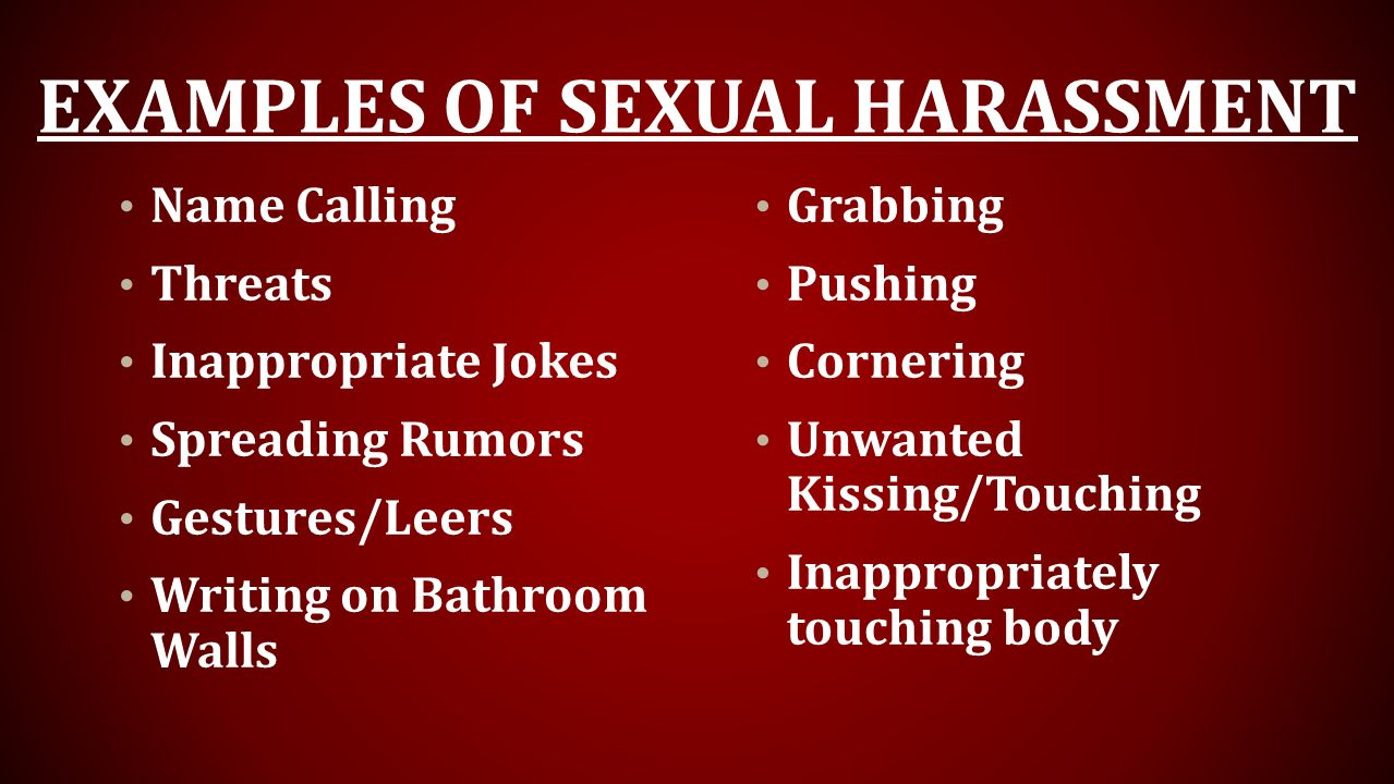Examples of Sexual Harassment