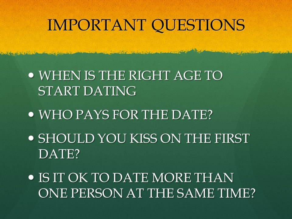 at what age should a guy start dating