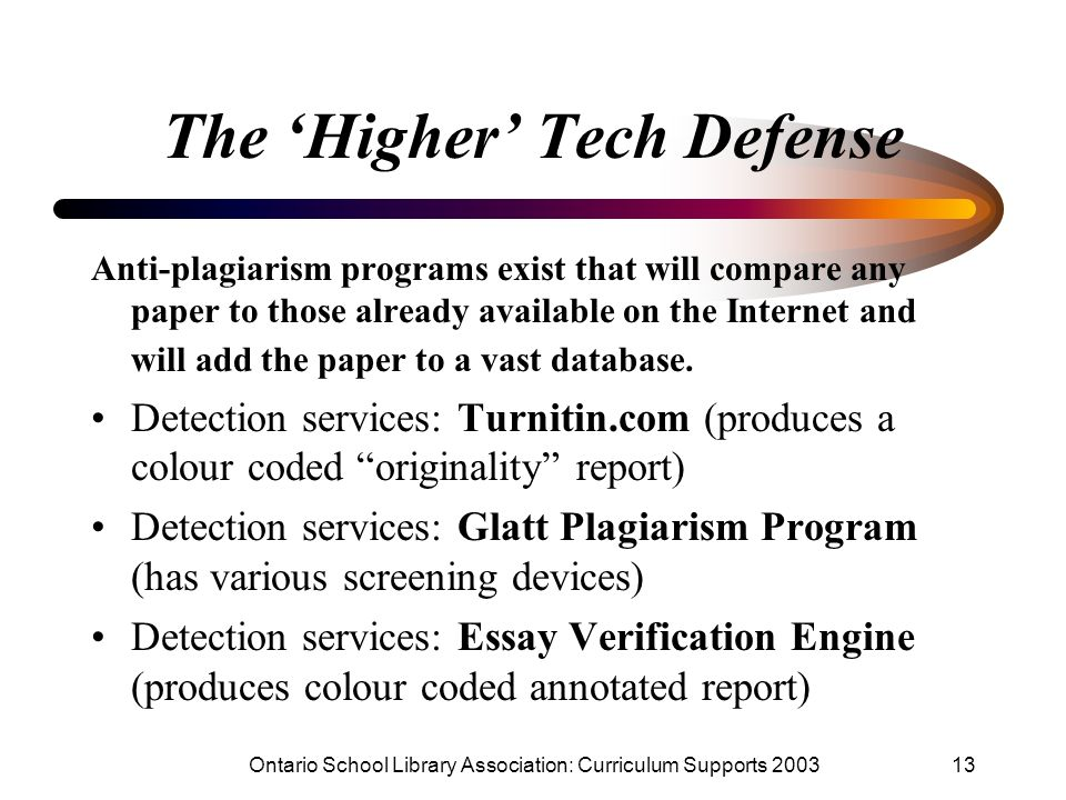 The 'Higher' Tech Defense