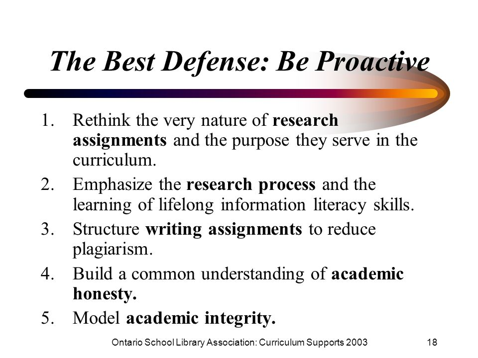 The Best Defense: Be Proactive
