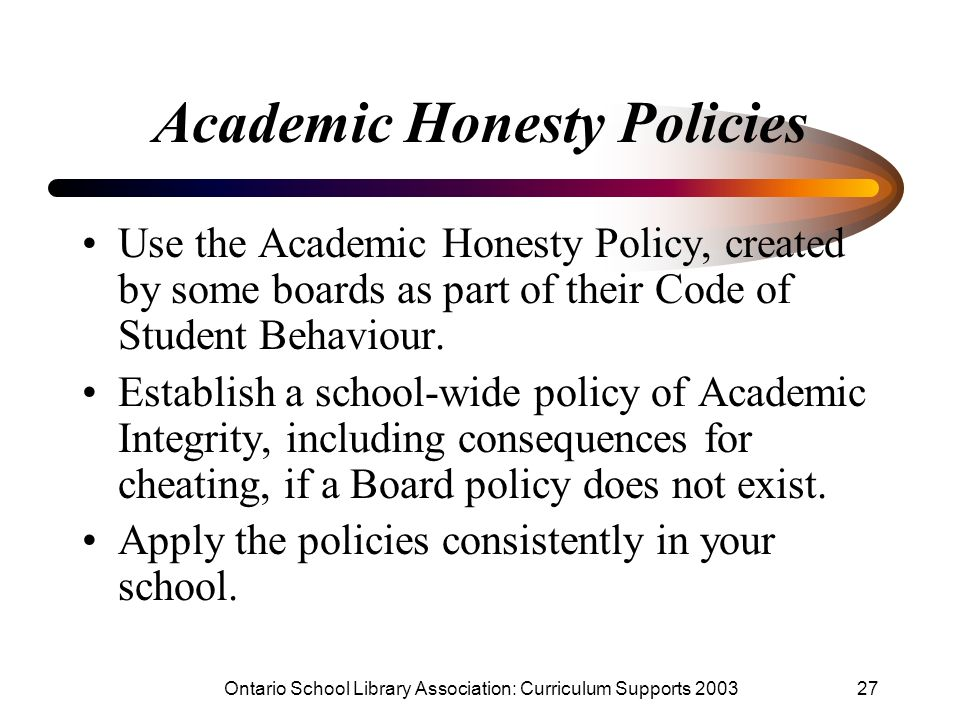 Academic Honesty Policies