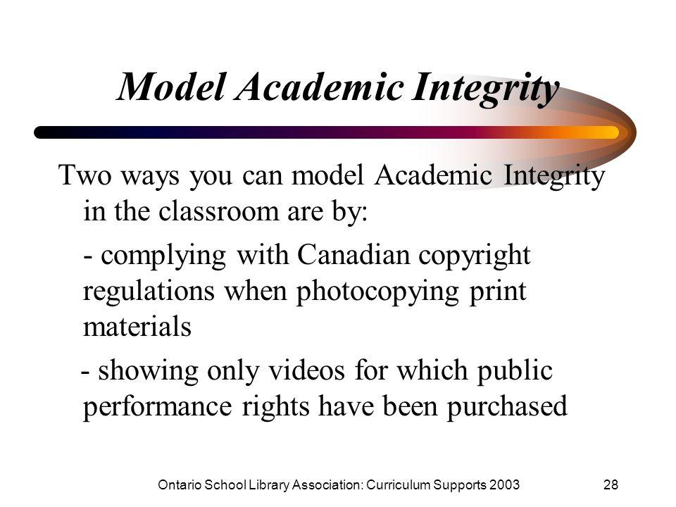 Model Academic Integrity