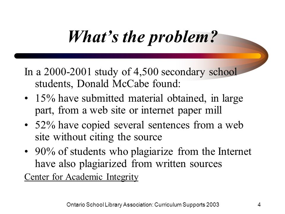 Ontario School Library Association: Curriculum Supports 2003