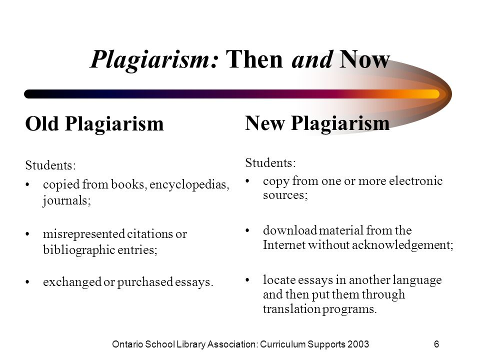 plagiarism for new students
