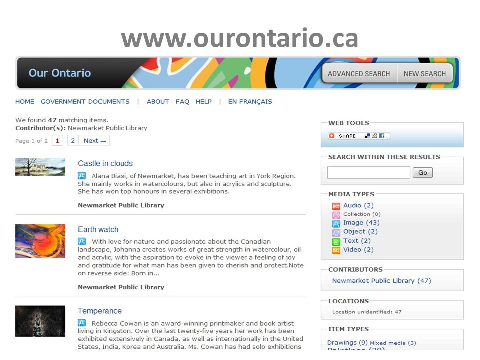 www.ourontario.ca