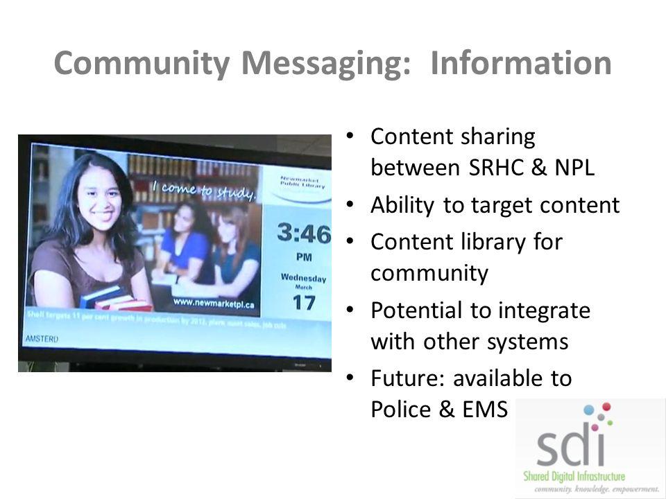 Community Messaging: Information