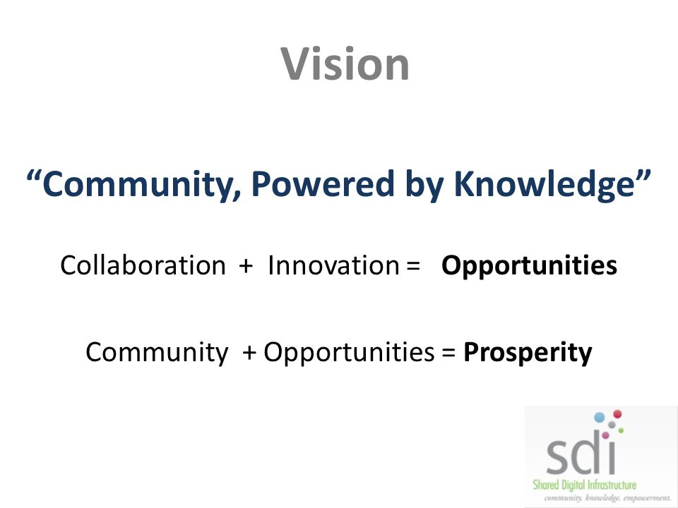 Community, Powered by Knowledge