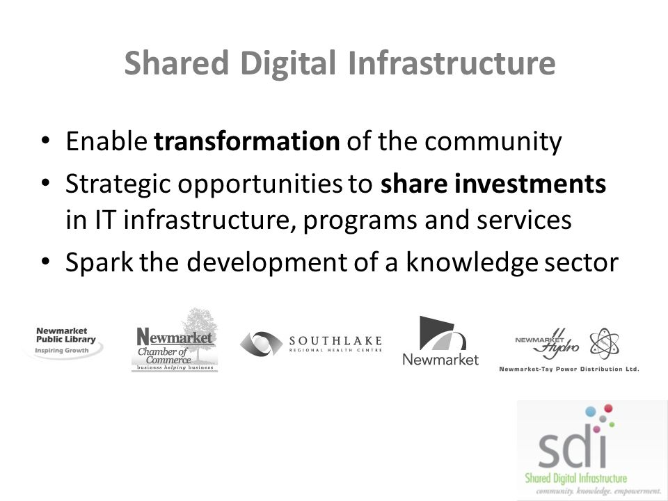 Shared Digital Infrastructure