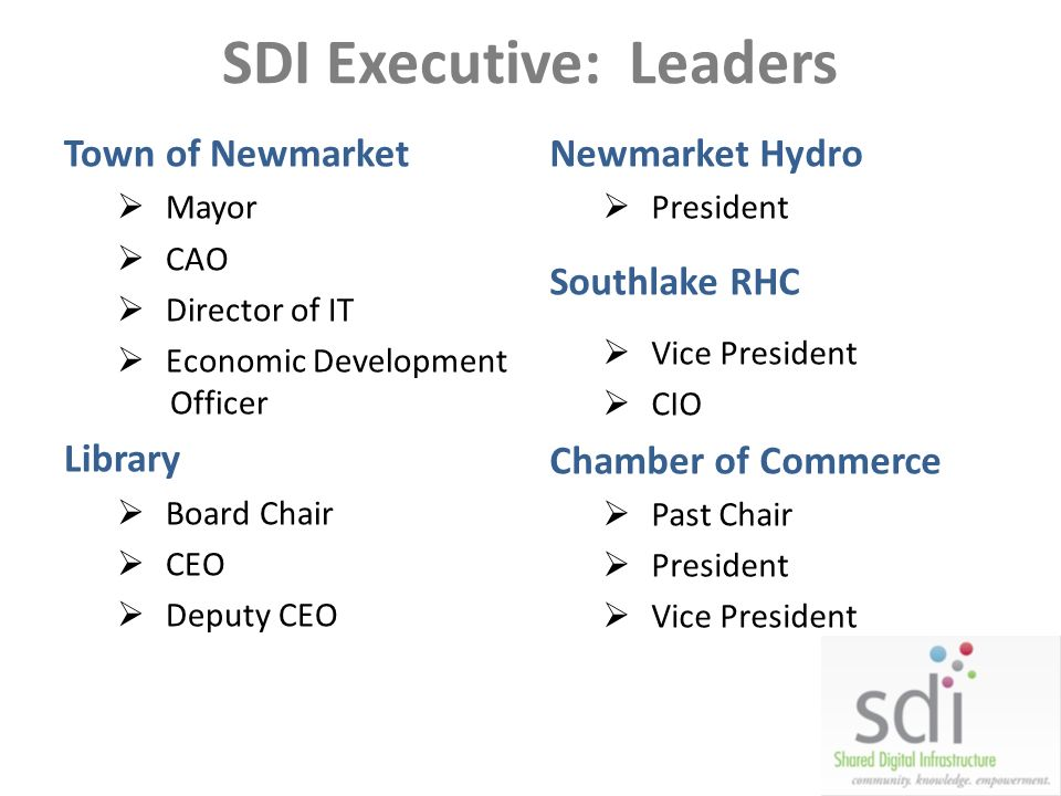 SDI Executive: Leaders