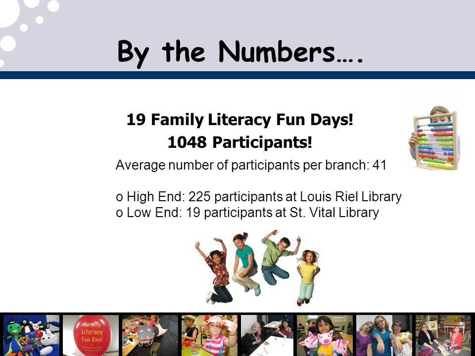 19 Family Literacy Fun Days!