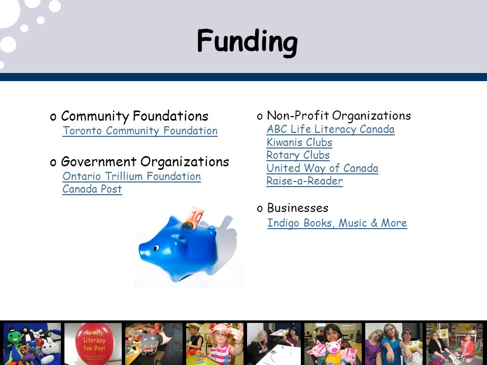 Funding Community Foundations Government Organizations