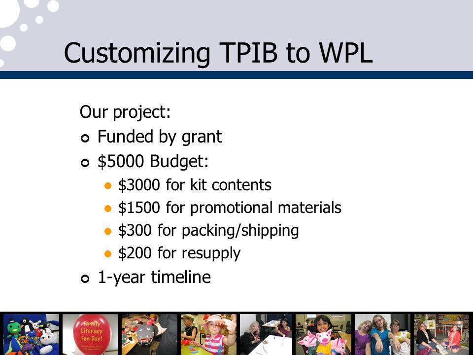 Customizing TPIB to WPL