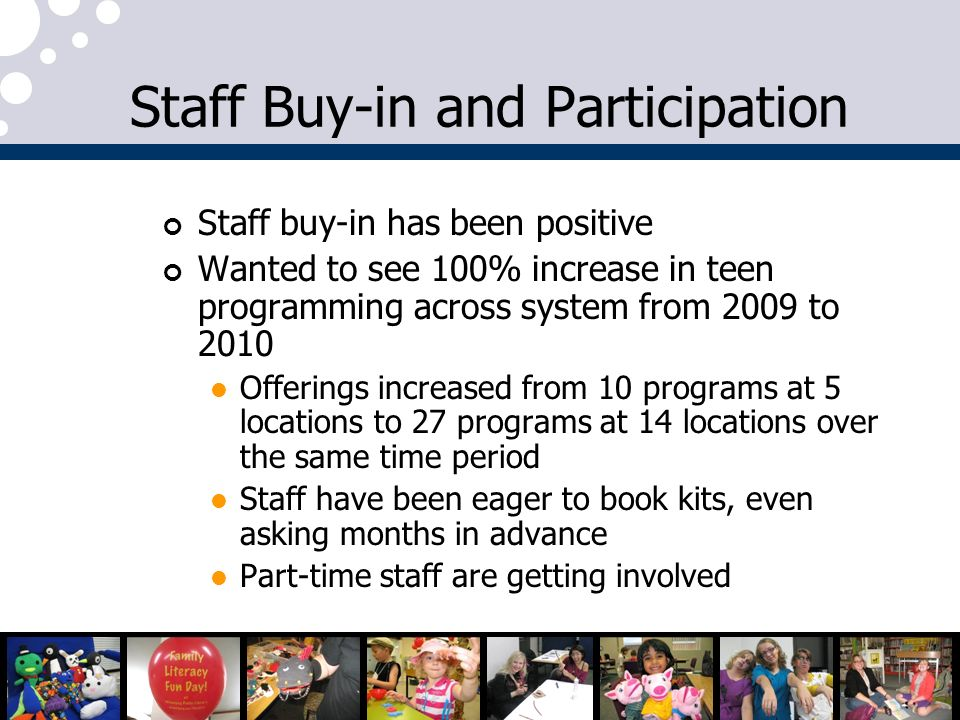 Staff Buy-in and Participation