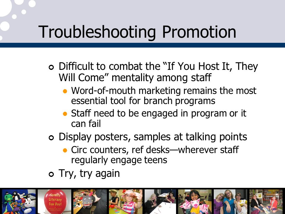 Troubleshooting Promotion