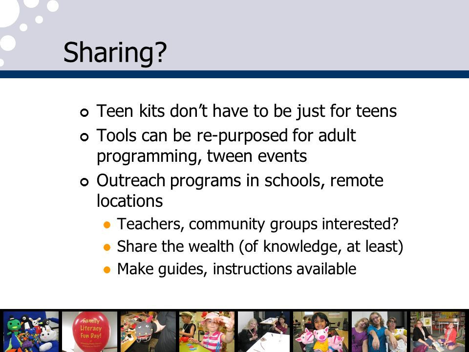 Sharing Teen kits don't have to be just for teens