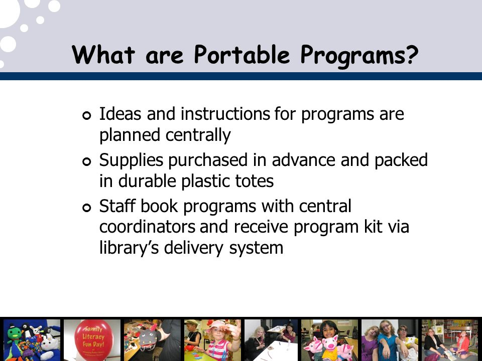 What are Portable Programs