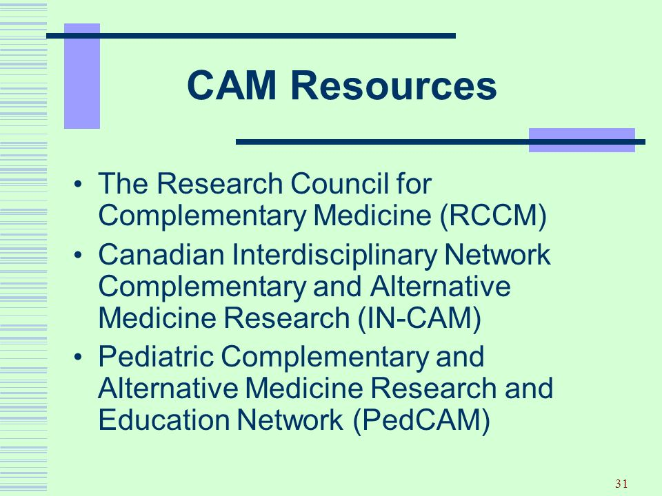 CAM Resources The Research Council for Complementary Medicine (RCCM)