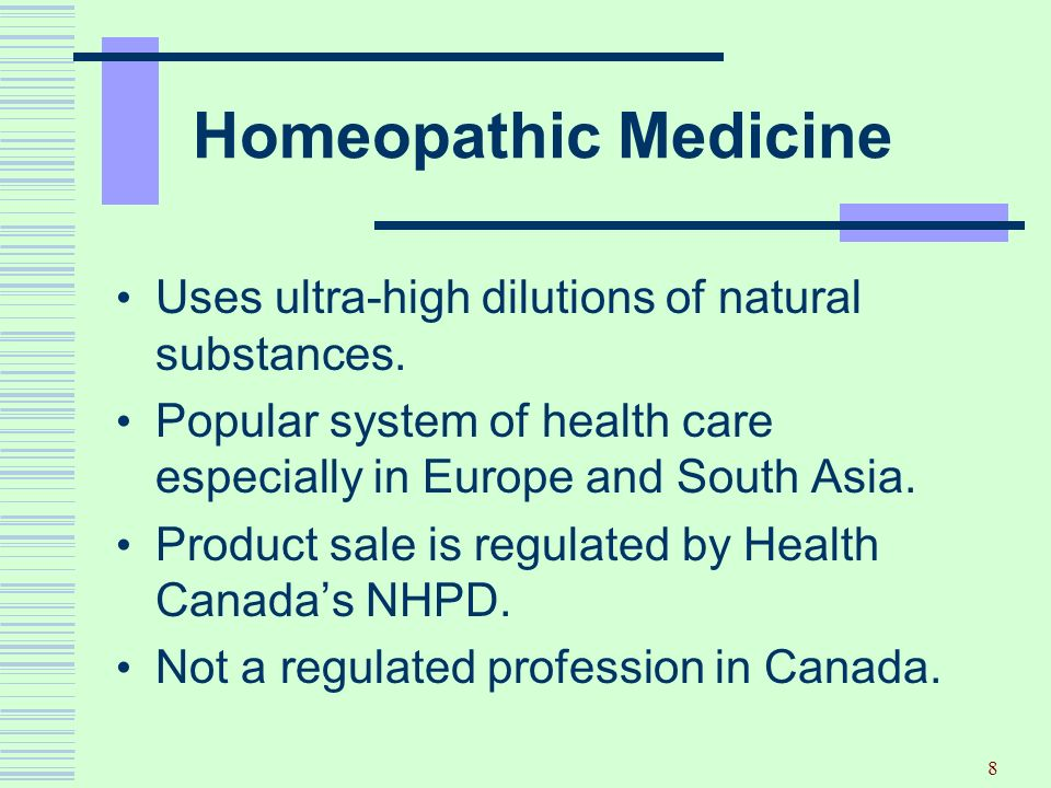 Homeopathic Medicine Uses ultra-high dilutions of natural substances.