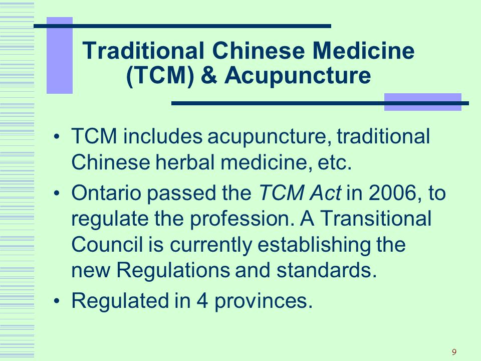 Traditional Chinese Medicine (TCM) & Acupuncture