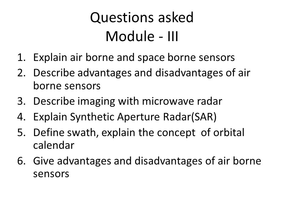 Introduction To Microwave Remote Sensing Ppt Video