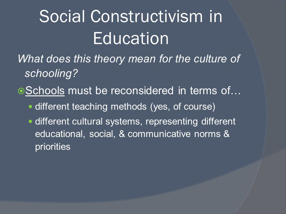 constructivism theory essay Constructivism: moving beyond the impasse when viewed as a historically unfolding and changing theory, constructivism appears in this essay i have.