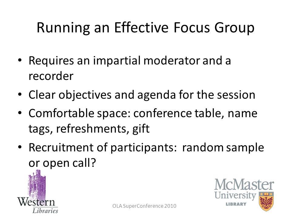 Running an Effective Focus Group