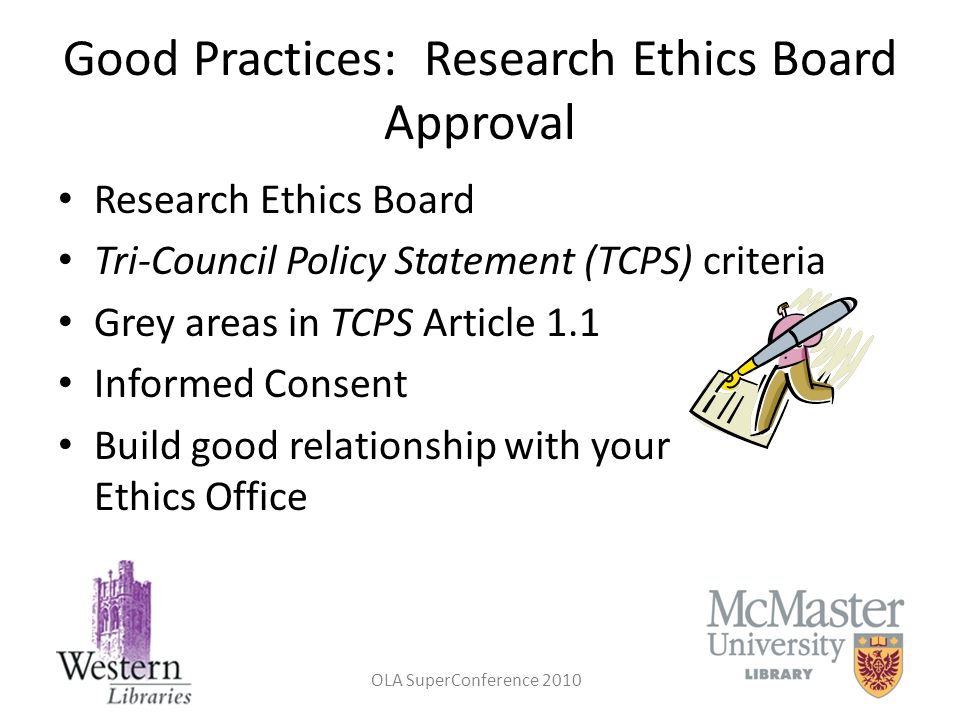 Good Practices: Research Ethics Board Approval